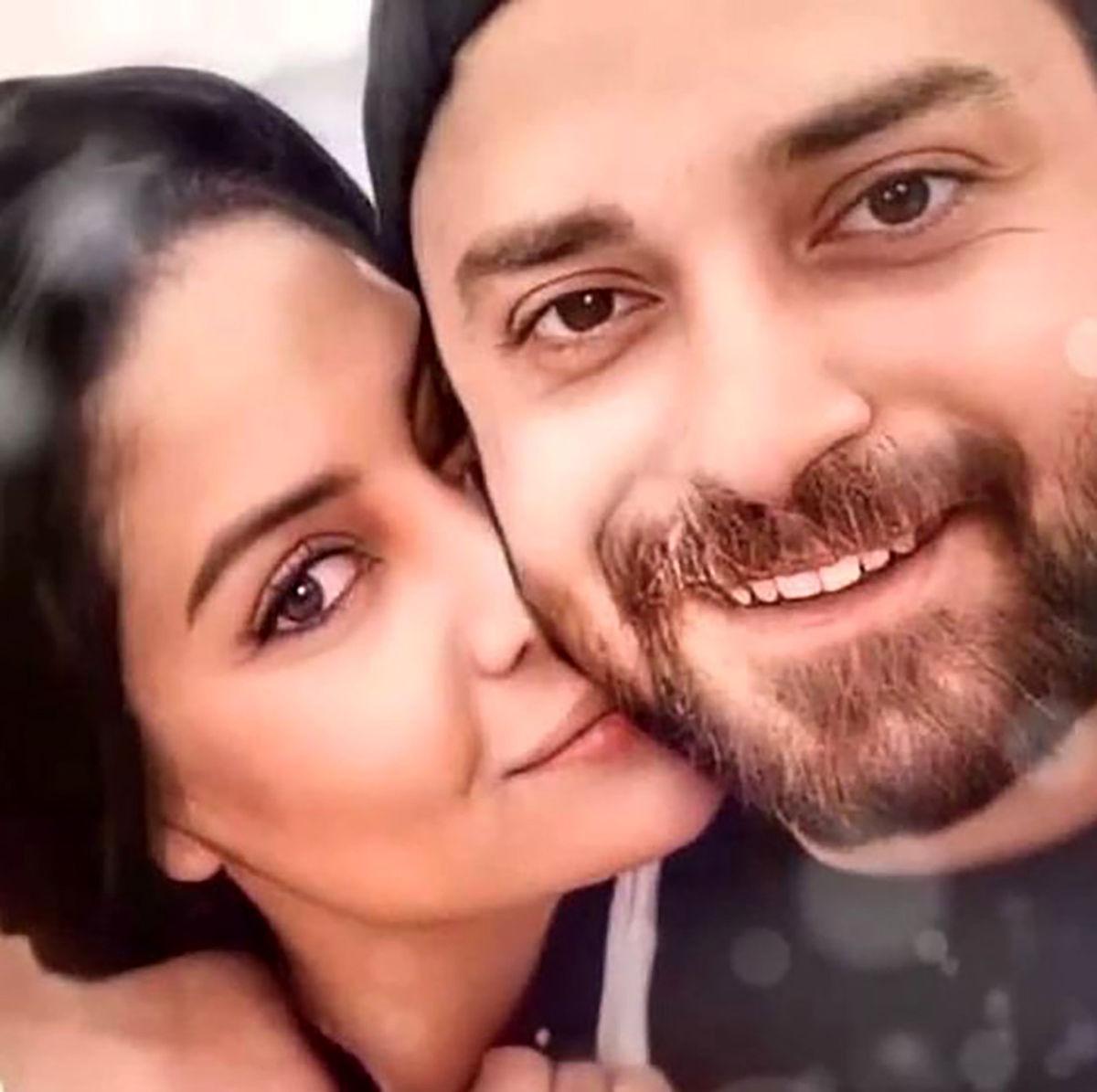 عاشقانه های بابک جهانبخش و همسرش بعد از عمل جراحی + عکس