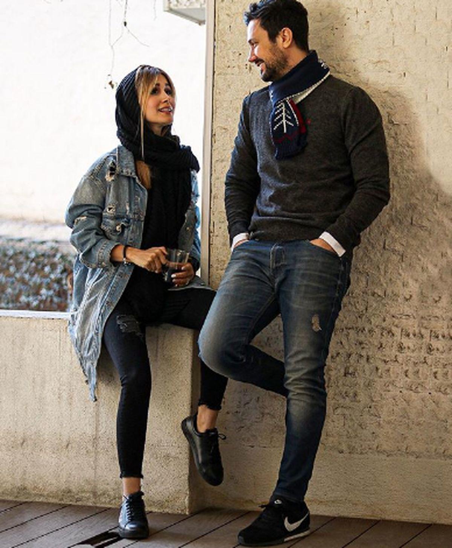 اختلاف سنی شاهرخ استخری و همسرش غوغا به پا کرد + عکس