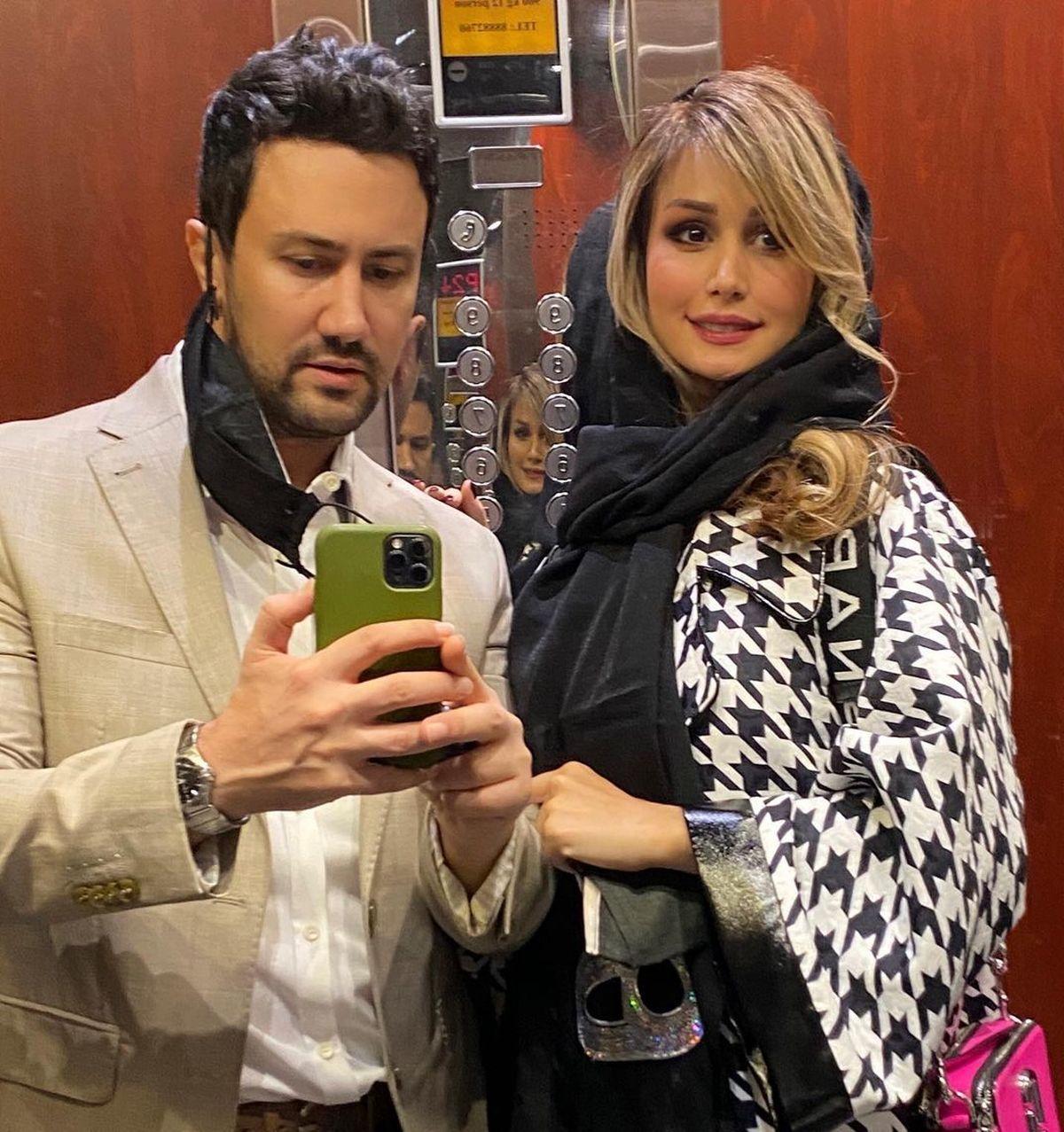آرایش غلیظ همسر شاهرخ استخری جنجالی شد + عکس