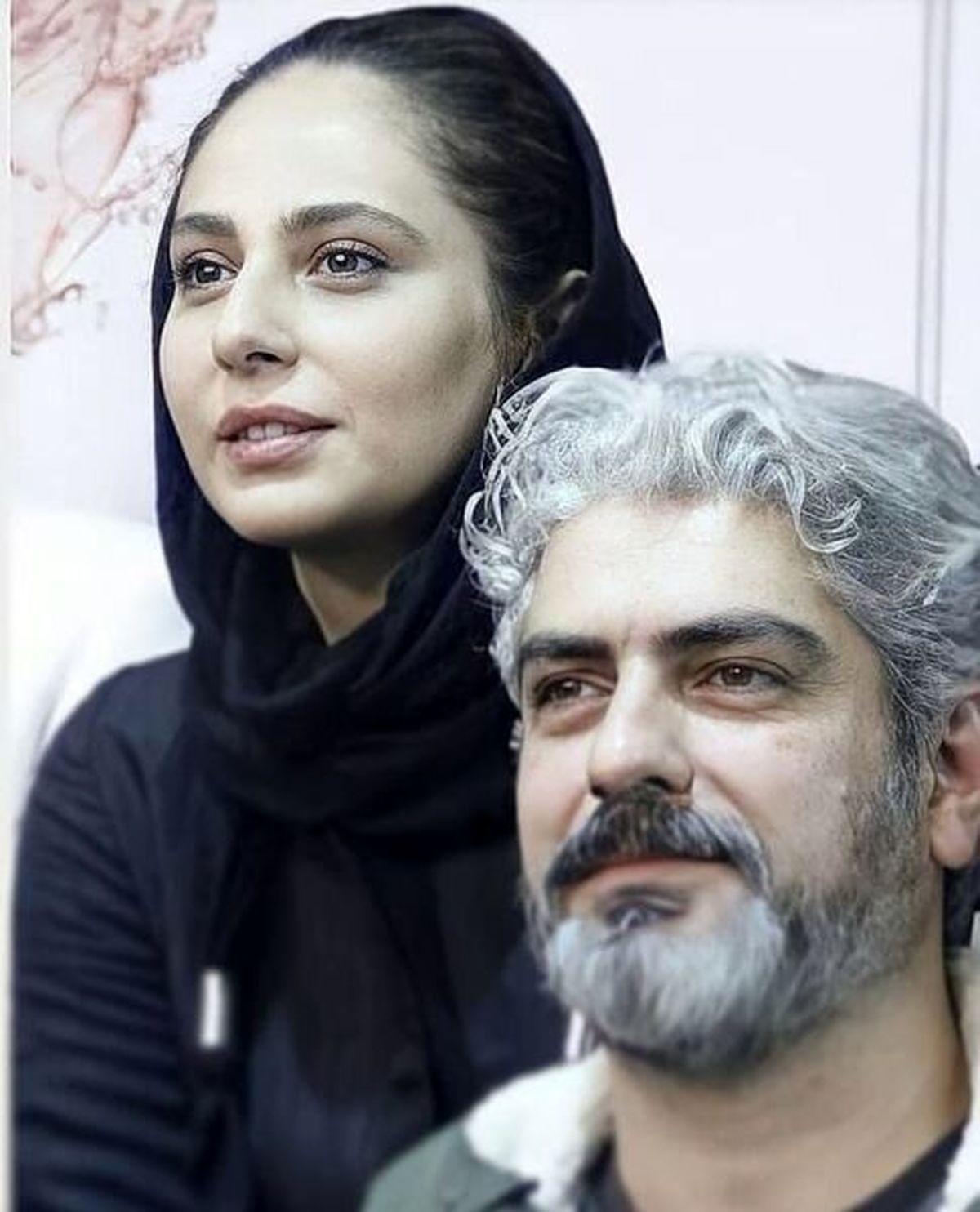 عاشقانه های مهدی پاکدل و همسر دومش در ملاعام + عکس