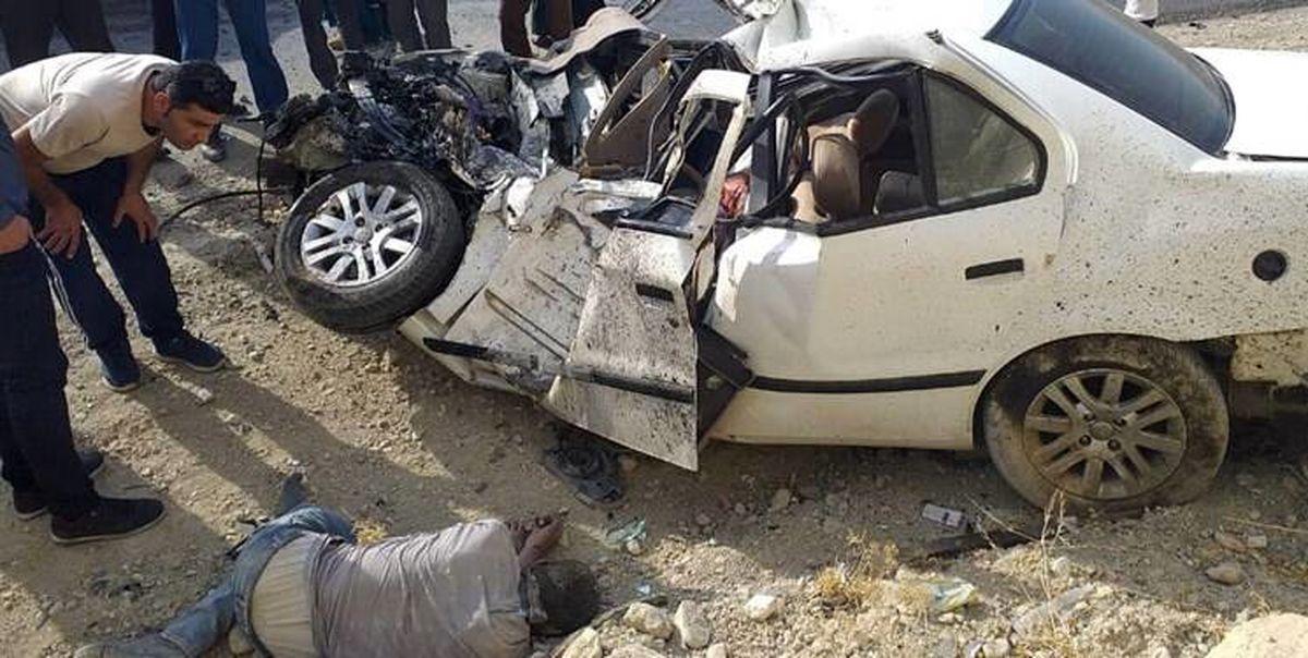 تصادف مرگبار پراید و تریلر در بزرگراه شهید یاسینی + جزئیات
