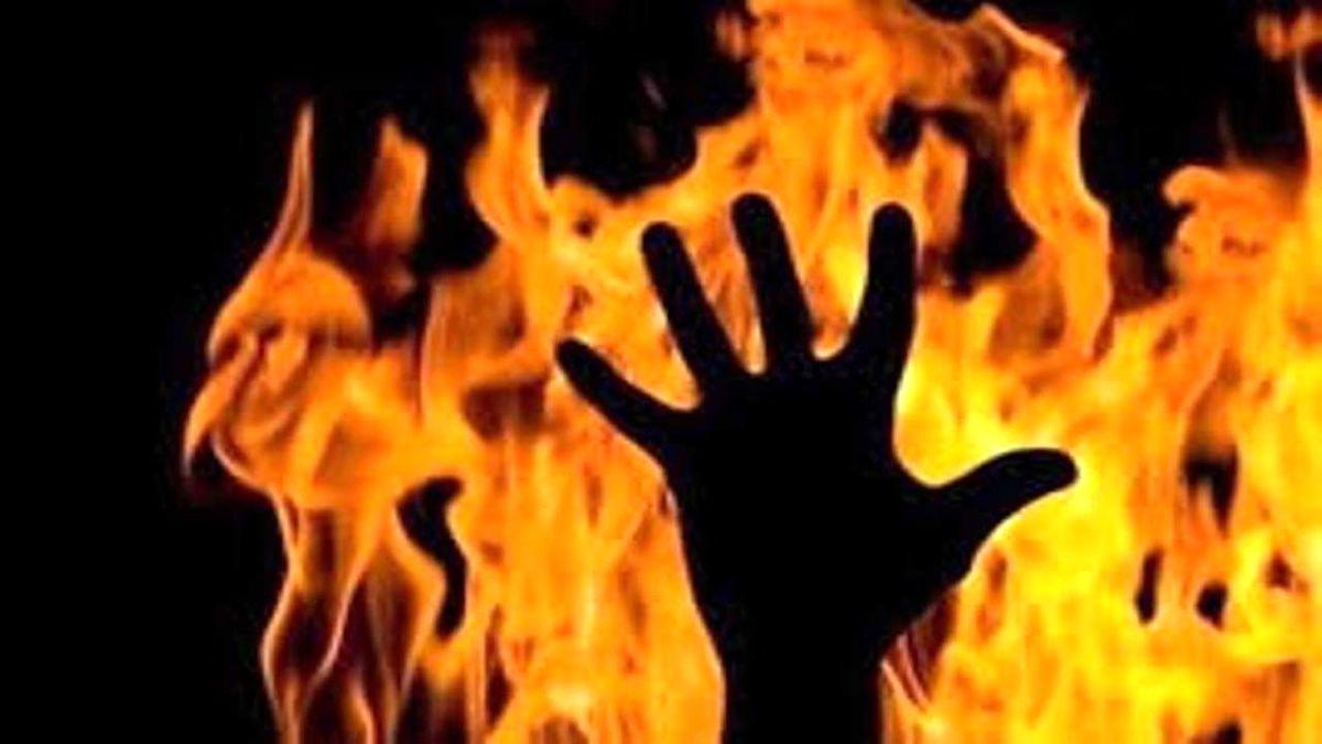 زن یاسوجی همسرش را در ملاعام به آتش کشید + فیلم