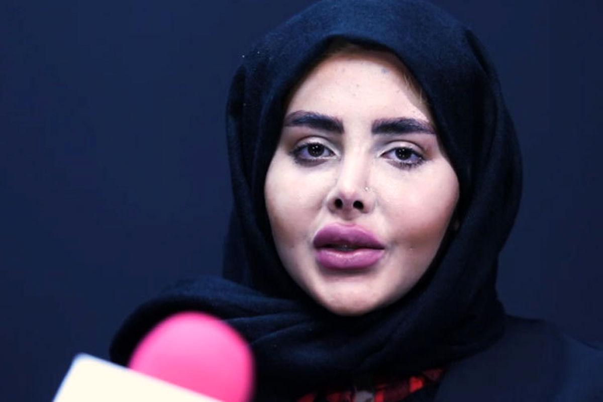 سحر تبر از چهره جدیدش رونمایی کرد + فیلم